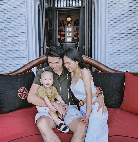 Tổ ấm của cặp đôi với con trai đầu lòng hơn 1 tuổi.