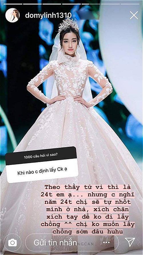 Hoa hậu Đỗ Mỹ Linh giải đáp thắc mắc của người hâm mộ.