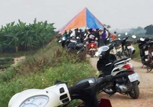 Hiện trường vụ án mạng là bờ đê sông Thái Bình, thôn Bắc Phong, xã Kiến Thiết, huyện Tiên Lãng (Hải Phòng), nơi người dân phát hiện thi thể Hằng bị sát hại, đốt. Ảnh: Facebook