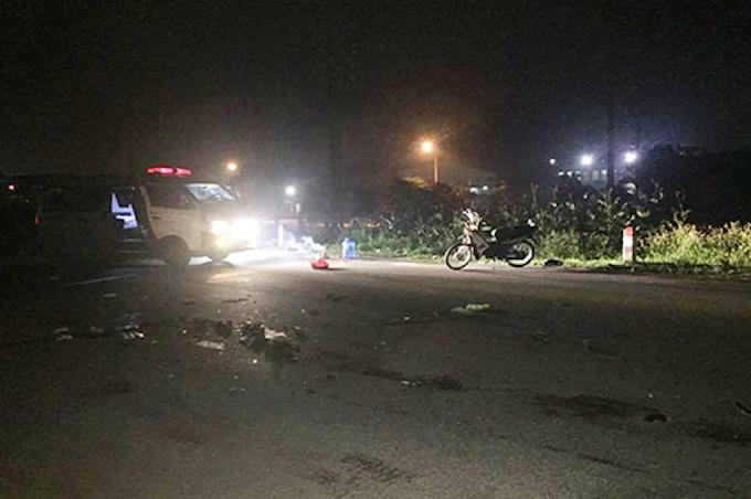 Hiện trường vụ tai nạn tại Nghi Lộc. Ảnh: Gia Quyết.