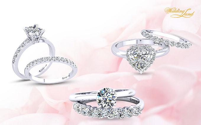 Thay vì đeo riêng rẽ, các cô dâu có thể thử kết hợp hai chiếc nhẫn để trở trông thật thời trang và nổi bật trong ngày trọng đại.
