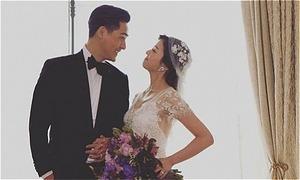 Vợ chồng Châu Du Dân lần đầu khoe ảnh cưới
