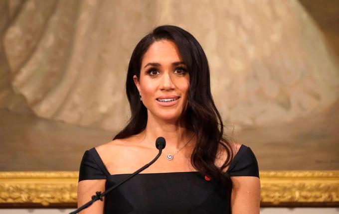 Meghan phát biểu tại lễ kỷ niệm 125 năm ngày phụ nữ New Zealand có quyền đi bầu cử trong chuyến công du châu Đại Dương hồi tháng 10. Ảnh: PA.