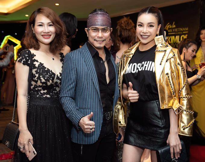Cô vui vẻ hội ngộ vợ chồng ca sĩ Jimmi Nguyễn tại sự kiện.