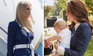 Kate Middleton 'đụng' váy với con gái Tổng thống Trump
