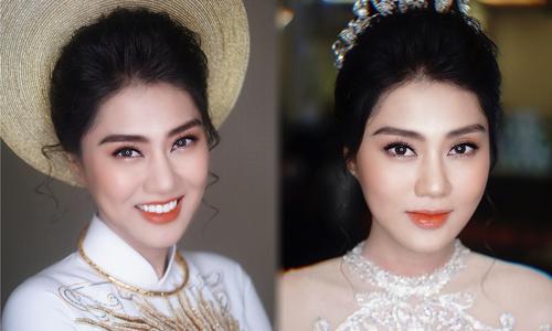Vợ diễn viên Xuân Phúc đẹp rạng ngời trong lễ cưới ở Hà Nội
