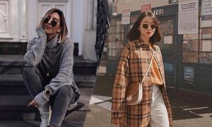 Hai mẫu áo ấm giúp nàng văn phòng sang chảnh khi đi làm