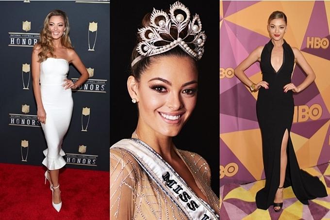 Miss Universe có sự thay đổi liên tục về vương miện những năm gần đây. Năm 2017, người đẹp Demi‑Leigh Nel‑Peters được trao vương miện Mikimoto có hình tượng chim phượng hoàng, trị giá 250.000 USD (hơn 5,8 tỷ đồng). Tuy nhiên, cô hiếm khi đội vương miện này trong nhiệm kỳ của mình.