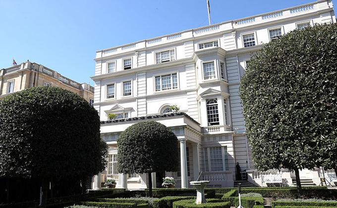 Dinh thự Clarence House ở London của Thái tử Charles. Ảnh: UK Press.
