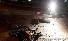 Xe máy đấu đầu, ba thanh niên Quảng Nam tử vong