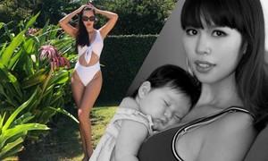 Siêu mẫu Hà Anh chia sẻ bí quyết giảm nhanh 10 kg sau 4 tháng sinh