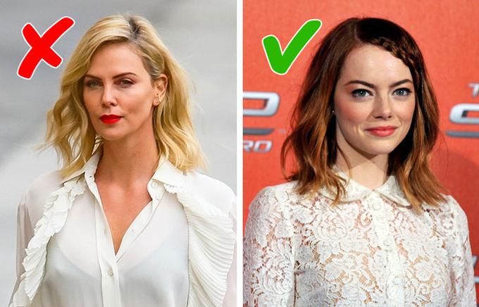 Ngôi sao Mad Max: Fury Road Charlize Theron (trái) bị giảm sức hút vì chọn sai áo ngực.