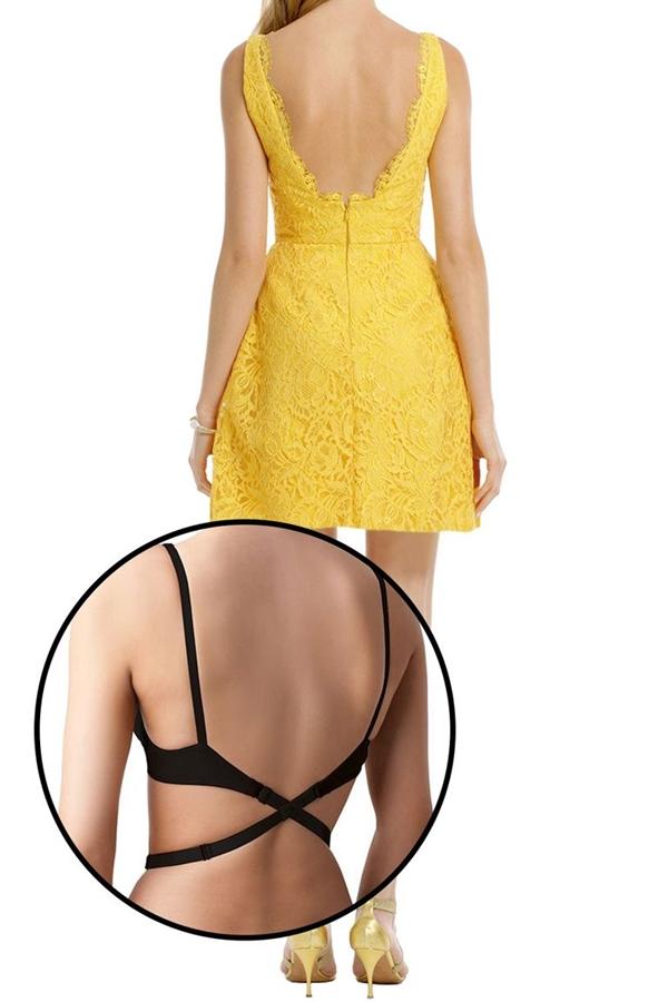 Nội y có dây đai dành cho những bộ đầm hở lưng.