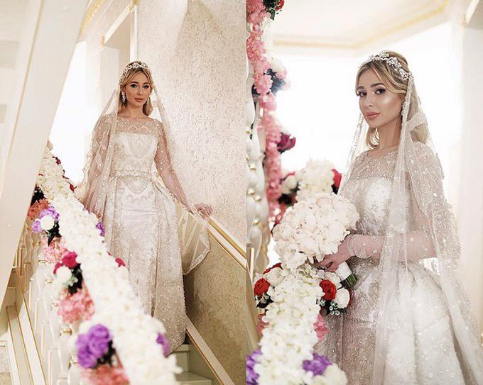 Cô dâu xuất hiện lộng lẫy trong tiệc cưới với trang phục, phụ kiệntrị giá hàng chục tỷ đồng.
