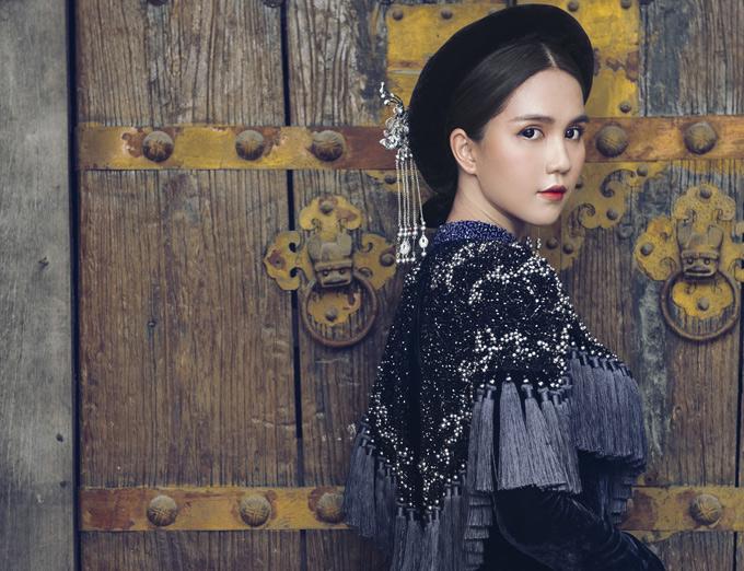 Hình ảnh Ngọc Trinh gợi nhớ vẻ đẹp của những thiếu nữ quý tộc Việt Nam thời xưa.