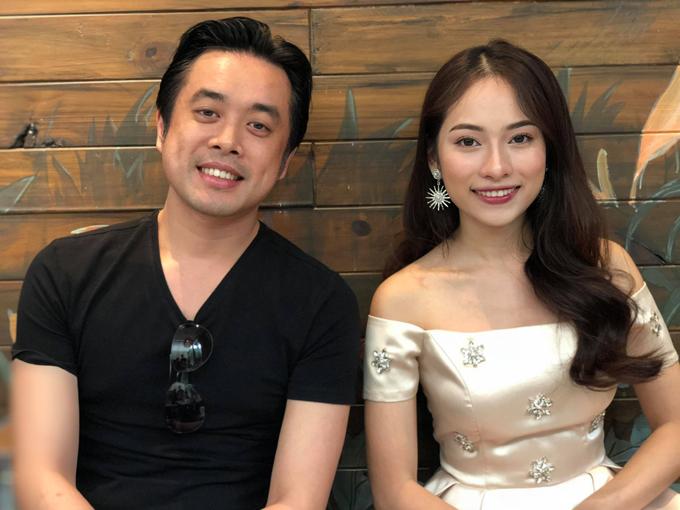 Dương Khắc Linh và bạn gái mới tên Ngọc Duyên gặp gỡ báo chí tại TP HCM, hôm 14/11.