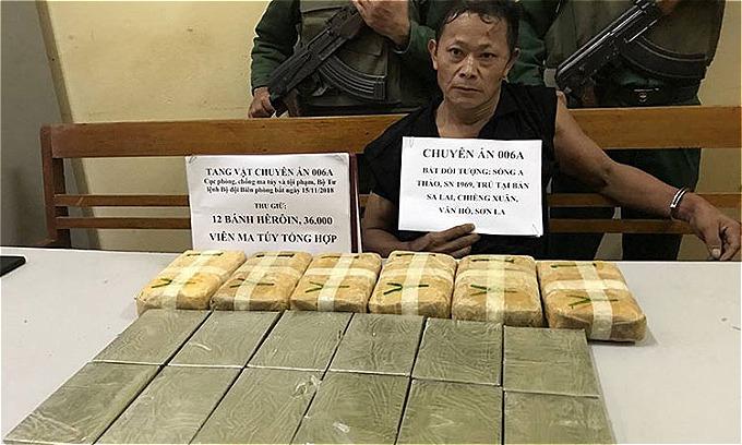 Số ma túy cơ quan chức năng thu giữ trong vụ án. Ảnh: Sơn Dương