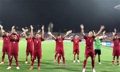 Tuyển thủ Việt mừng trận thắng Malaysia theo phong cách Viking