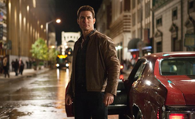 Tom Cruise trong một cảnh quay của bản phim năm 2012.