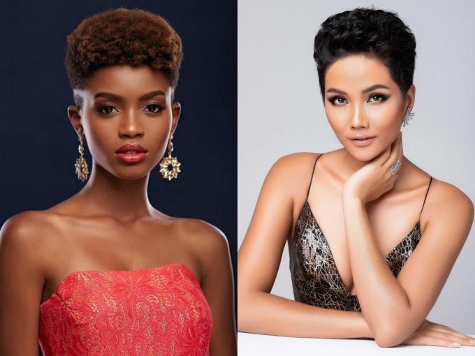 Nhan sắc đối thủ da đen, tóc tém giống HHen Niê tại Miss Universe - 2
