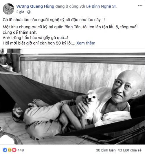 Chia sẻ của người bạn về nghệ sĩ Lê Bình.