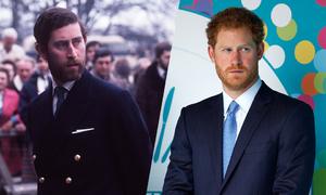Hoàng tử Harry giống hệt Thái tử Charles thời trẻ khi để râu