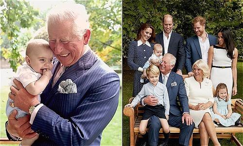Hoàng tử Louis 'chiếm sóng' trong bộ ảnh đời thường của ông nội