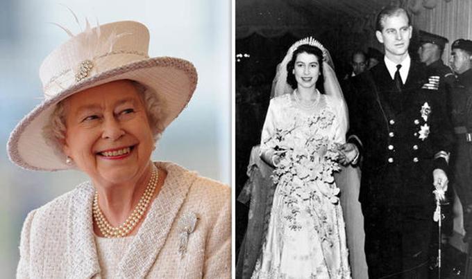 Nữ hoàng Anh hiện đã qua tuổi 92 (trái) và khi kết hôn với Hoàng thân Philip vào năm 1947 (phải). Ảnh: UK Press.