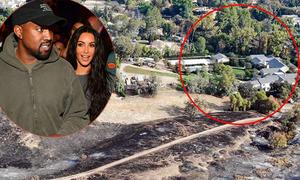 Biệt thự 60 triệu USD của vợ chồng Kim thoát cháy thần kỳ
