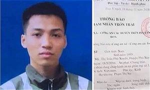 Tù nhân mang án giết người trốn khỏi trại giam ở Thanh Hoá