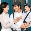 Ngọc Lan - Thanh Bình nhìn nhau tình tứ trước mặt con trai