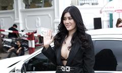 Hoa hậu Huỳnh Tiên mặc hở bạo đi sự kiện