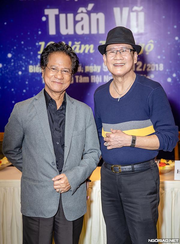 Chế Linh luôn ủng hộ Tuấn Vũ trong mọi hoạt động nên sẵn sàng nhận lời mời tham gia liveshow sắp tới của đàn em.
