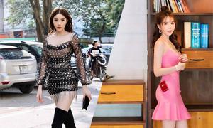 Sao Việt mê mặc váy ngắn khoe chân dài