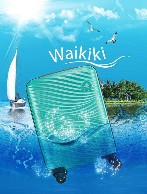 Thương hiệu Kamiliant là thành viên chính thức trong hệ thống thương hiệu của Samsonite, được phát triển bởi American Tourister. BST vali cứng Waikiki lấy cảm hứng từ bãi biển Hawaii xinh đẹp với thiết kế mềm mại, uốn lượn như những đường vân sóng.