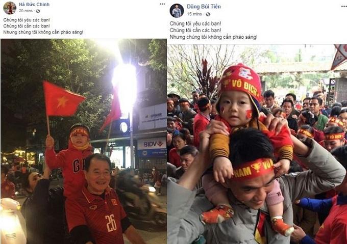 Bùi Tiến Dũng, Quang Hải kêu gọi CĐV ngừng đốt pháo sáng