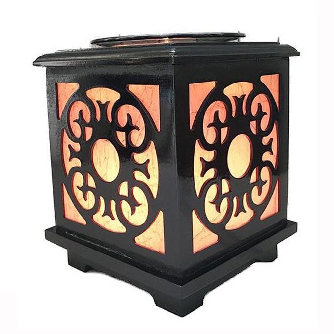 Đèn xông tinh dầu điện gỗ Lorganic M0093