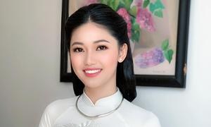 Á hậu Thanh Tú makeup tông nâu cam cho lễ ăn hỏi