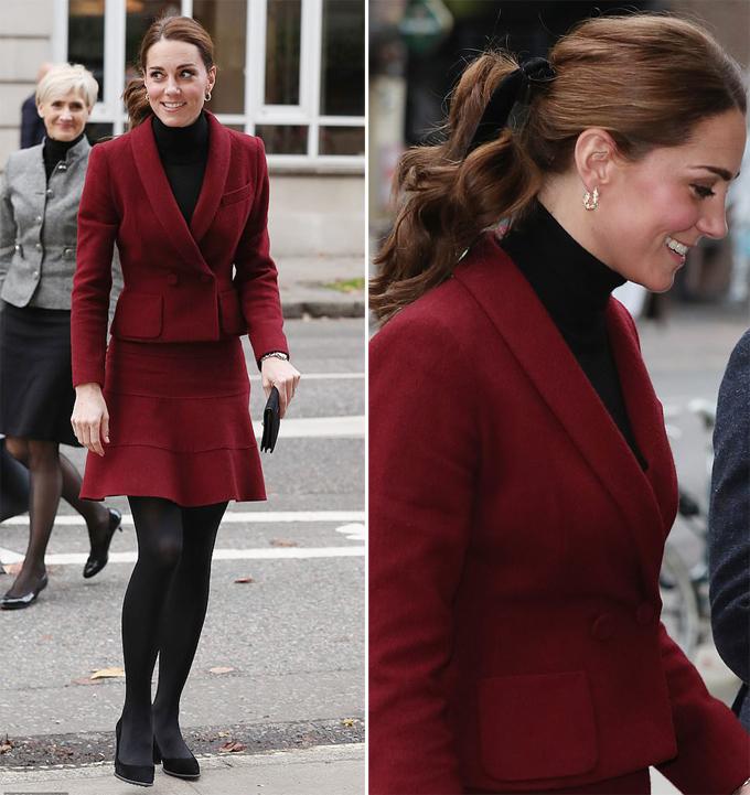 Kate và Meghan mặc đồ đôi khi tham dự hai sự kiện khác nhau