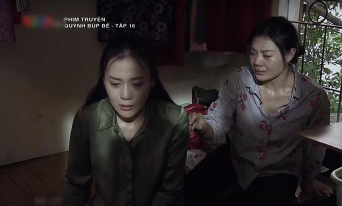Phân đoạn Lan (Thanh Hương) và Quỳnh (Phương Oanh) ôm nhau khóc ở cuối tập 16 khiến nhiều người xúc động.