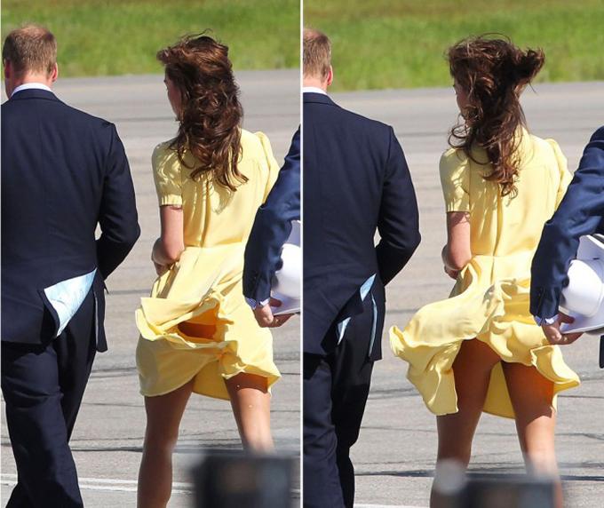 Nữ Công tước xứ Cambridge hẳn xấu hổ sau khi nhìn thấy những hình ảnh này của mình. Ảnh: TheGloss.