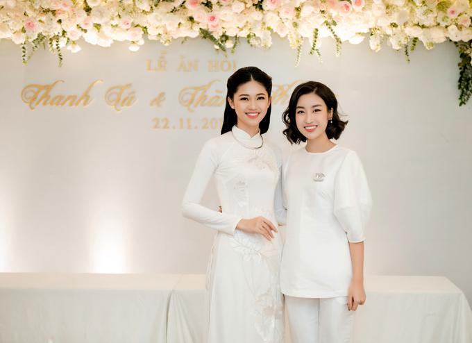 Hoa hậu Đỗ Mỹ Linh là bạn thân của Thanh Tú từ khi thi Hoa hậu Việt Nam 2016. Cô mừng cho Thanh Tú tìm được bờ vai vững chắc để nương tựa.