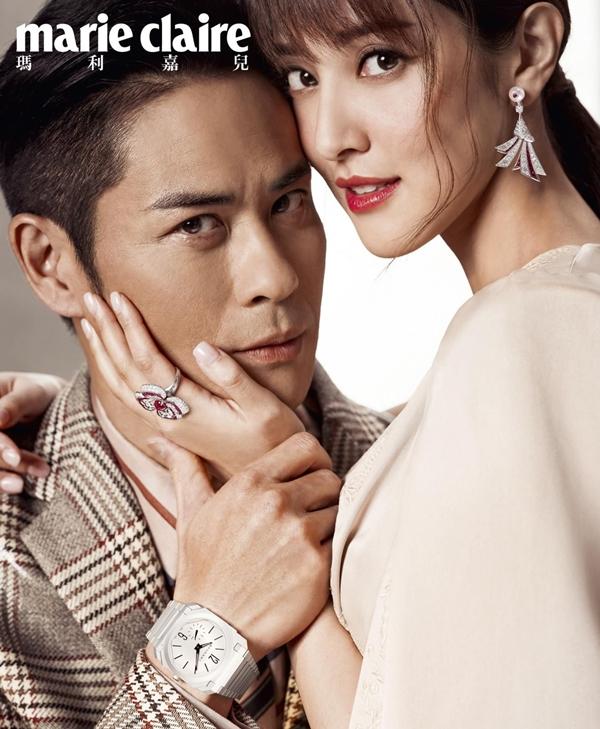 Cặp vợ chồng nổi tiếng xuất hiện trên tạp chí Marie Claire sau ngày cưới.