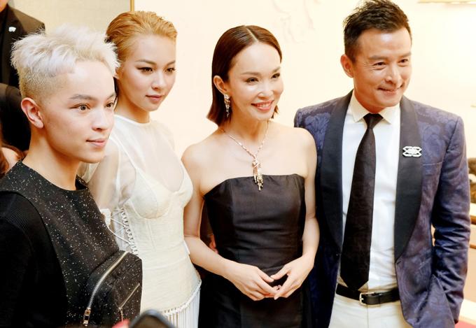 Phí Phương Anh, Kelbin Lei có dịp gặp gỡ vợ chồng ngôi sao hàng đầu châu Á Phạm Văn Phương - Lý Minh Thuận.