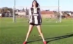 Fan nữ 'vào vai' C. Ronaldo, Messi, Pogba