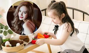Con gái Elly Trần trổ tài hướng dẫn nấu ăn
