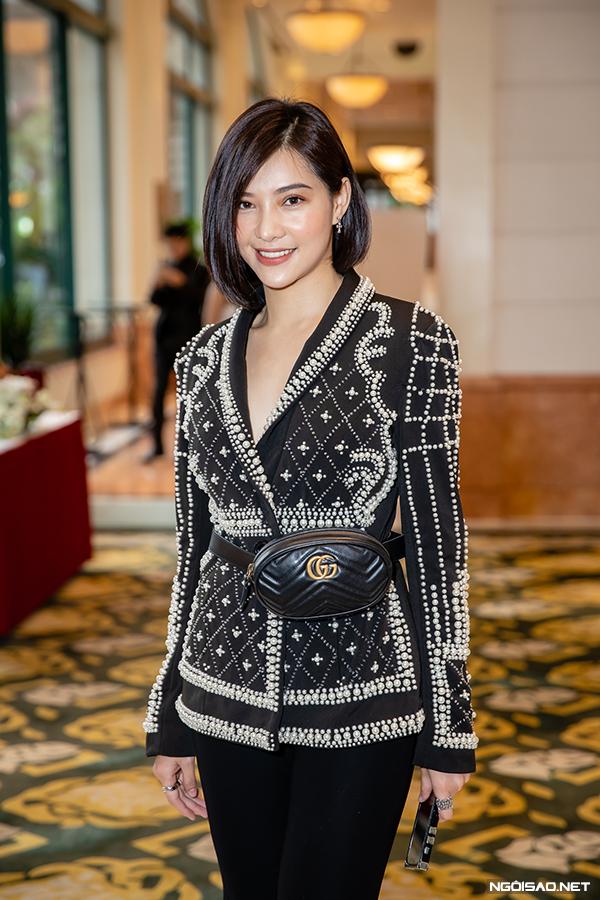 Lưu Đê Ly tại buổi họp báo Chạy trốn thanh xuân giữa tháng 11/2018.
