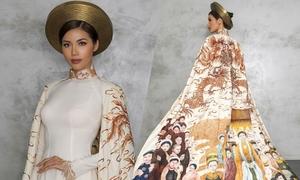 Áo dài Hoàng bào của Minh Tú tại Hoa hậu Siêu quốc gia
