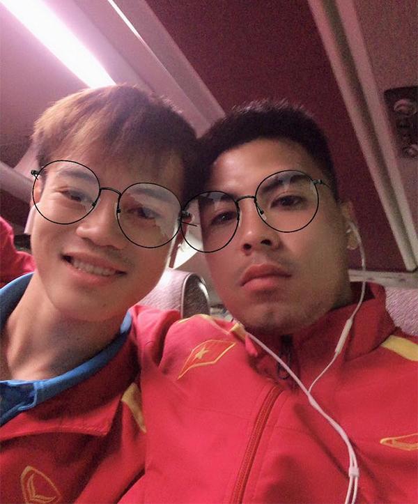 Đức Huy và Văn Toàn là những người bạn thân ở tuyển Việt Nam. Ảnh: FB.