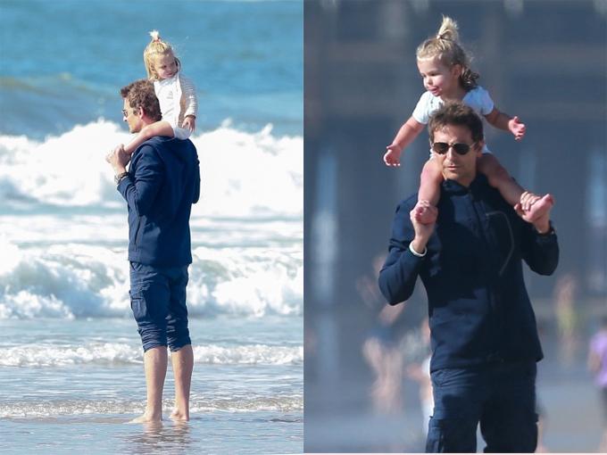 Bradley dành trọn kỳ nghỉ dài sau lễ Tạ ơn cho gia đình. Mỗi ngày, anh lại đưa con gái đi chơi, dạo phố hoặc ra bãi biển.